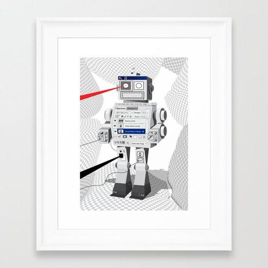 Photobot Framed Art Print
