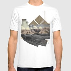 The future a time to reminisce. (mixed media) Mens Fitted Tee White SMALL