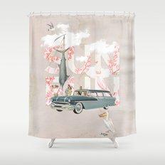 Sun Fun Shower Curtain