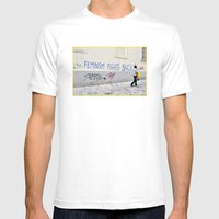 Feminism Fights Back Mens Fitted Tee White SMALL