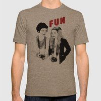 FUN Mens Fitted Tee Tri-Coffee SMALL
