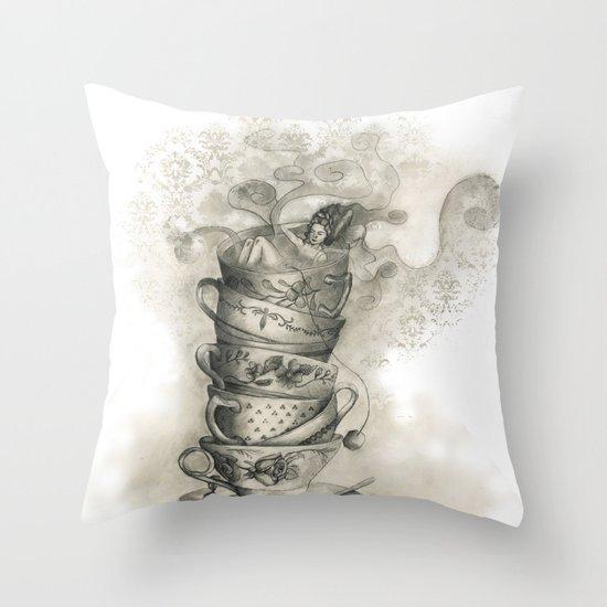 Tea bath Throw Pillow