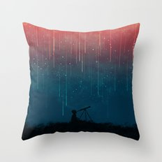Meteor Rain Throw Pillow
