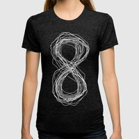 Forever Womens Fitted Tee Tri-Black SMALL