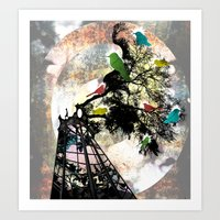 Life in a Cage Art Print
