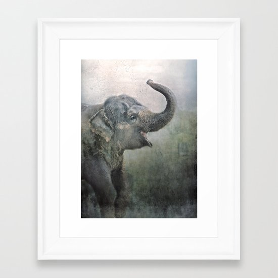 Happy Elephant! Framed Art Print