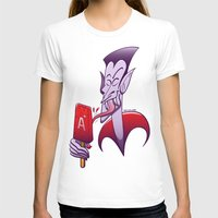 T-shirt featuring Dracula Licking a Blood Flavored Popsicle by Zoo&co on Society6 Products