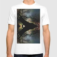 Night Fall by The Tree Mens Fitted Tee White SMALL