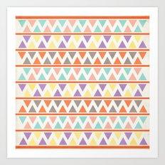 Triangulate 2 / Summer Bliss Art Print