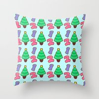 Count To Christmas Throw Pillow
