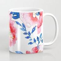 Peonies R+B Mug