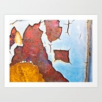 Cracked gate detail Art Print