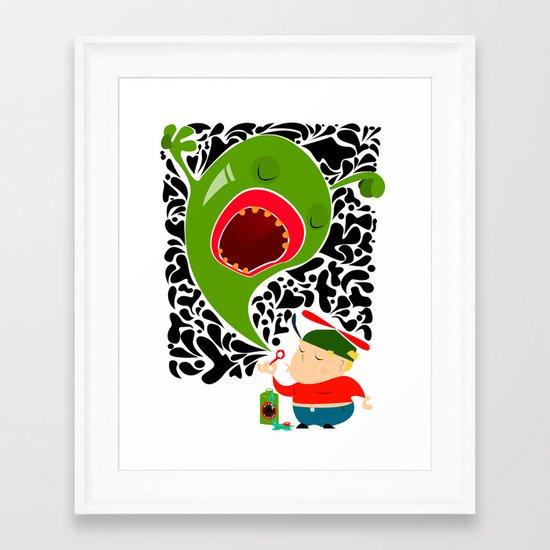 Blow for Kids Framed Art Print