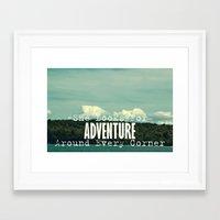She Looks For Adventure  Framed Art Print