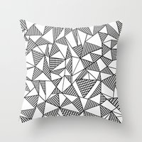 Abstraction Partial Grid Throw Pillow