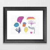 Sea Flora Framed Art Print