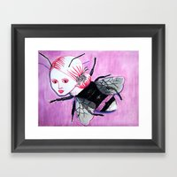bee Linda Framed Art Print