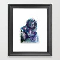 Melancholy Mood Portrait Framed Art Print
