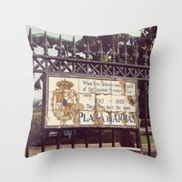 Plaza D'Armas New Orleans French Quarter City Color Photography Throw Pillow