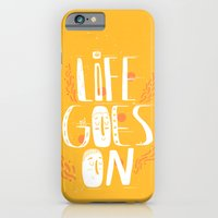 iPhone Cases featuring Life goes on by Elahe Zahedi