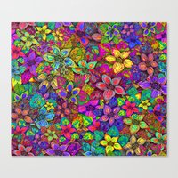 FLOWERS MISH MASH Canvas Print