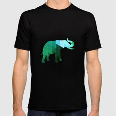 Emerald Elephant Mens Fitted Tee Black SMALL