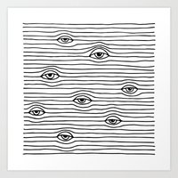 PEEPING TOM [BLK & WHT] Art Print