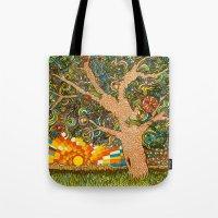 Etz haDaat tov V'ra: Tree of Knowledge Tote Bag