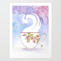 Apple Blossom Cup Art Print