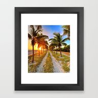Sunset Road Framed Art Print