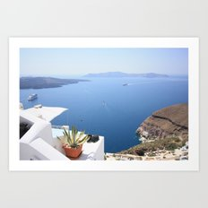 Love Santorini Art Print