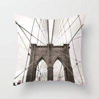 Brooklyn Bridge Arches Throw Pillow