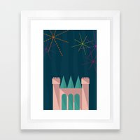 Princess Castle | Disney inspired Framed Art Print