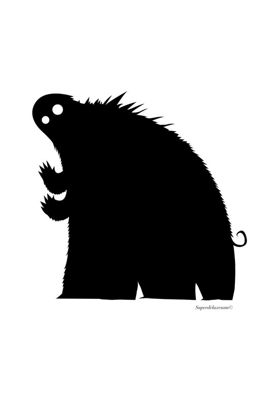 Original Monster Canvas Print