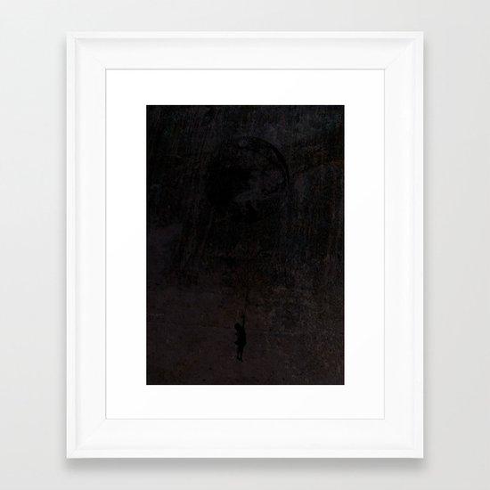 The secret of a girl at night Framed Art Print