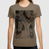Lski Anchor Womens Fitted Tee Tri-Coffee SMALL