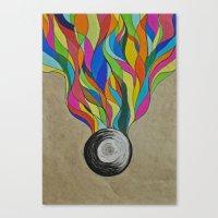 Colour Sketch  Canvas Print