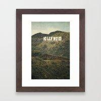 Hollywood (color) Framed Art Print