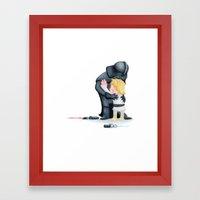 enemies hug I Framed Art Print