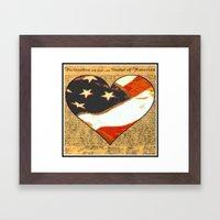 Happy Birthday America Framed Art Print