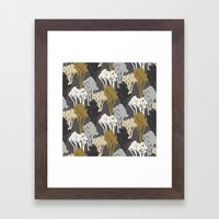 Arboreal Silhouettes - Golds & Silvers Framed Art Print
