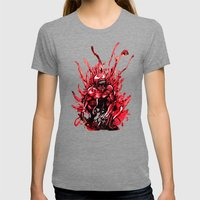 Carnage watercolor Womens Fitted Tee Tri-Grey SMALL
