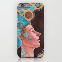 iPhone & iPod Case featuring Queen in Gold and Teal by SL Scheibe