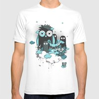 Nocturnal Friends Mens Fitted Tee White SMALL