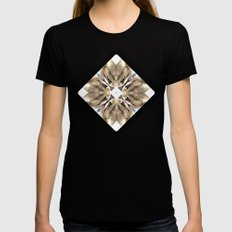 Lizards galore kaleidoscope Womens Fitted Tee Black SMALL