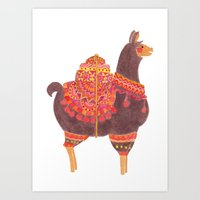 The Lovely Llama Art Print