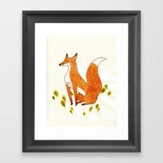 Noble Fox Framed Art Print