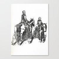 X-Ray Horsemen Canvas Print