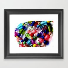 Beaded Bracelets Framed Art Print