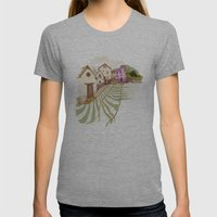 Village Womens Fitted Tee Athletic Grey SMALL